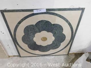 (1) 2'x2' Granite Mosaic Inlay