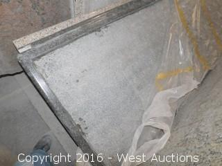 "(1) 98"" X 36"" Pre-Fabricated Granite Countertop"