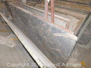 "(1) 98"" X 36"" Pre-Fabricated Granite Countertop"