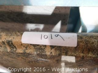 "(1) 5' X 40"" Pre-Fabricated Granite Countertop"