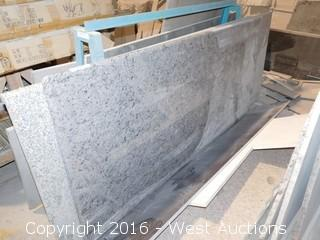"(1) 79"" X 40"" Pre-Fabricated Granite Countertop"