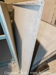 "(1) 8' x 40"" Pre-Fabricated Granite Countertop"
