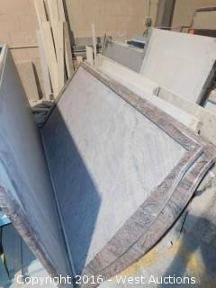 "(1) 6' x 40"" Pre-Fabricated Granite Countertop, Rounded Ends"