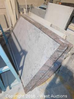 "(1) 76"" x 40"" Pre-Fabricated Granite Countertop"