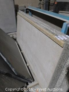 "(1) 77"" x 40"" Pre-Fabricated Granite Countertop"
