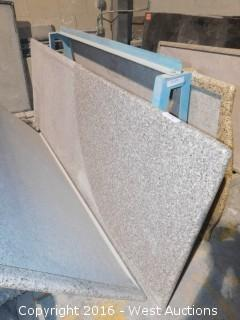 "(1) 74"" x 3' Pre-Fabricated Granite Countertop"