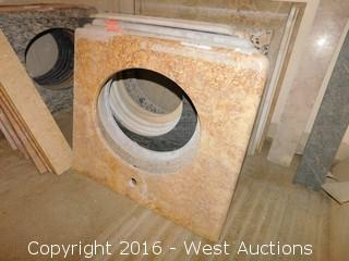 "(1) 26""x22"" Granite Vanity Sink Countertop"