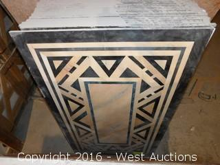 (1) 3'x5' Granite Mosaic Inlay