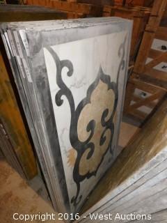 (1) 3'x5' Granite Mosaic Inlay
