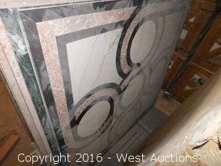 (1) 5'x5' Granite Mosaic Inlay