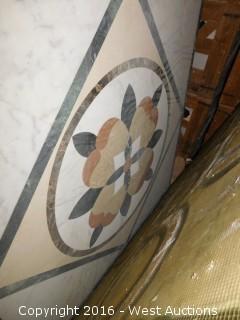 (1) 5'x5' Granite Mosaic Inlay