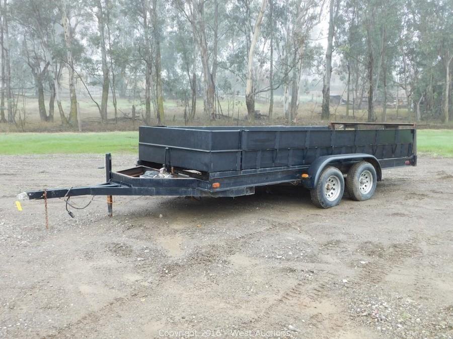 GMC Utility Truck, Trailers, and Construction Tools