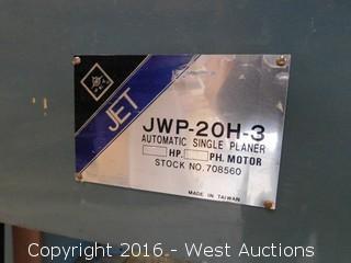 JET JWP-20H-3 Automatic Single Planer