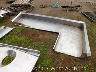 3-Piece Stainless Steel Dishwashing Station