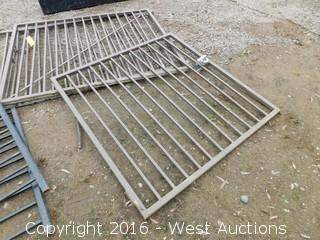 (3)  Metal Fence Pieces