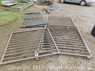 (3)  Metal Fence Pieces
