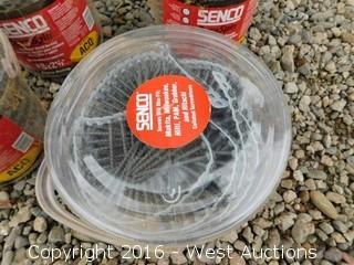 (6) Buckets of Senco Duraspin Collated Wood Screws