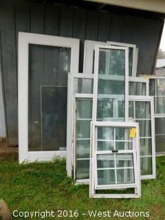 (9) Aluminum Double Paned Windows