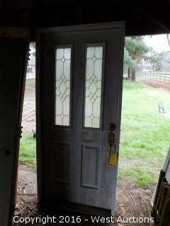 3'x6' Wood Front Door with Frame