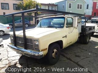 1984 Chevrolet Custom Deluxe 30 with Custom Flatbed and Lincoln Arc Welder