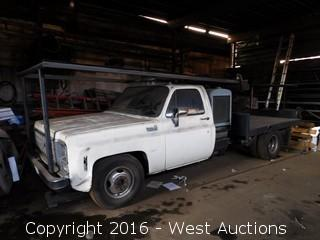 1980 Chevrolet Custom Deluxe Flatbed Truck with Lincoln Electric Welder