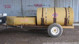 300 Gallon Fuel Tank on Single Axle Trailer<br />