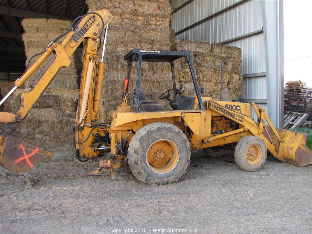 Case 580c Backhoe : West auctions auction dave s hay barn inc in esparto