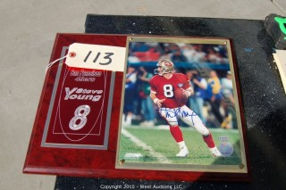 Steve Young 49er Plaque