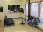 Contents of Reception Area -  Color Printers, Safe, IBM Computers, Seating, TV, DVD Player, Safe and more