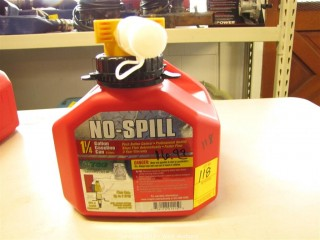 No-Spill Gas Can - 1.25 Gallon