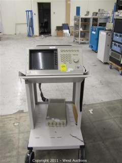 HP Digitizing Oscilloscope Mainframe,and HP 54122A Four Channel Test Set on Instrument Cart