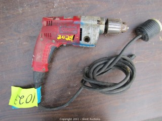 "Milwaukee 0234-1 Magnum Hole Shooter VSR 1/2"" Drill"