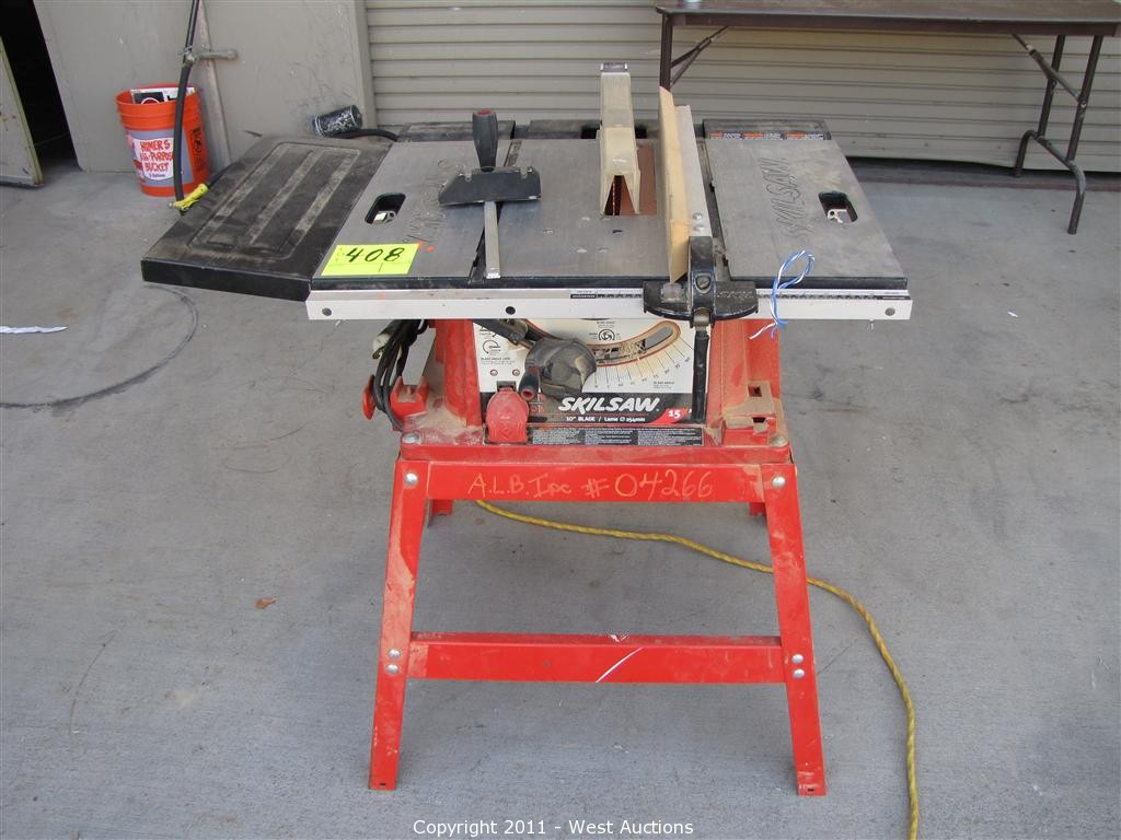 West auctions auction fourth of five equipment blowout for 10 inch skilsaw table saw
