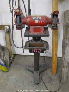 Bench Grinder on Anchored Stand - Milwaukee Model 4980