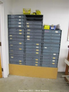 Variety Lot - Work Tables, Rolling Tool Cabinets, Shelves, Fasteners