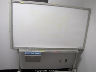 "Variety Lot - Panasonic ""Panaboard"" Light-up Display Panel, 3-D Glasses, Display Shelf, Table, Chairs"