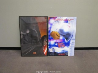 (3) Movie Posters - Star Wars Episode III (framed), Doctor Who (3D) and Speed Racer (3D)