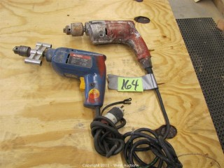 (2) Hand Drills - Milwaukee Magnum and Bosch