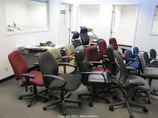 Variety Lot - Conference Table, Office Chairs, Couch, Drafting Machine