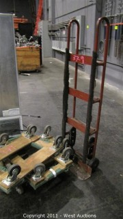 Heavy Duty Hand Truck and (4) Floor Dolleys