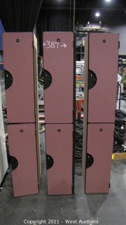 (3) Dual Stacking Lockers