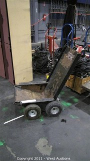 Material Cart with Hand Brake