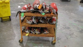 Variety Lot - Rolling Cart, (15+) Fire Extinguishers