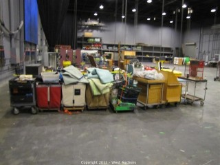 Variety Lot - (6) Rolling Carts, (3) Rolling Hampers, Painting Equipment