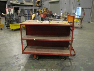 Steel Rolling Cart with Shelves