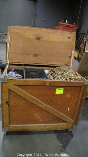 Variety Lot - Rolling Box with Hinging Lid, Rope, Straps