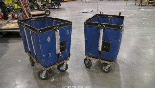 (2) Light Weight Material Bins on Dollies