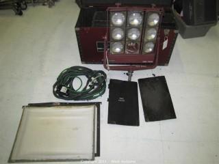 Mole Richardson Type 5541 Nine Light Molefay and Accessory Carrying Case