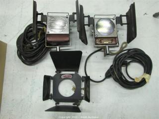 (2) Mole Richardson Type 5711 One-Light Molefays