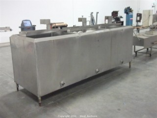 Three-Bay Stainless Steel Holding Tank